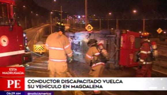 Las cámaras de seguridad de la zona esclarecerán el accidente. (Foto: Captura/América Noticias)