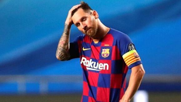 ÚLTIMA POSTAL. En su partido final como culé, padeció al Bayern Múnich y cayó 2-8.