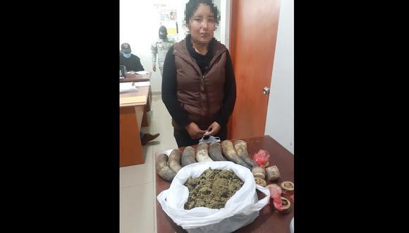 Cusco: la ilegal mercadería fue lacrada y enviada a la Comisaría San Jerónimo para las diligencias de ley.  (Foto: PNP