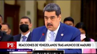 Venezolanos reaccionan a plan de repatriación de Nicolás Maduro