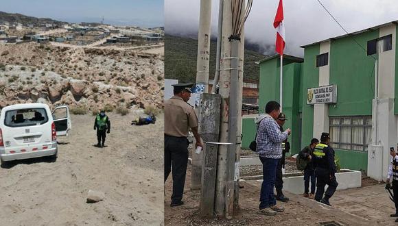 El alcalde del distrito de Yura, Néstor Chicaña, informó que este enfrentamiento es producto de la reventa de terrenos (Foto: PNP)
