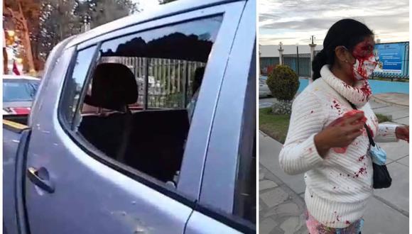 De gravedad. Detractores del fujimorismo atacaron con piedras a caravana de Fuerza Popular. (Foro: Perú21)