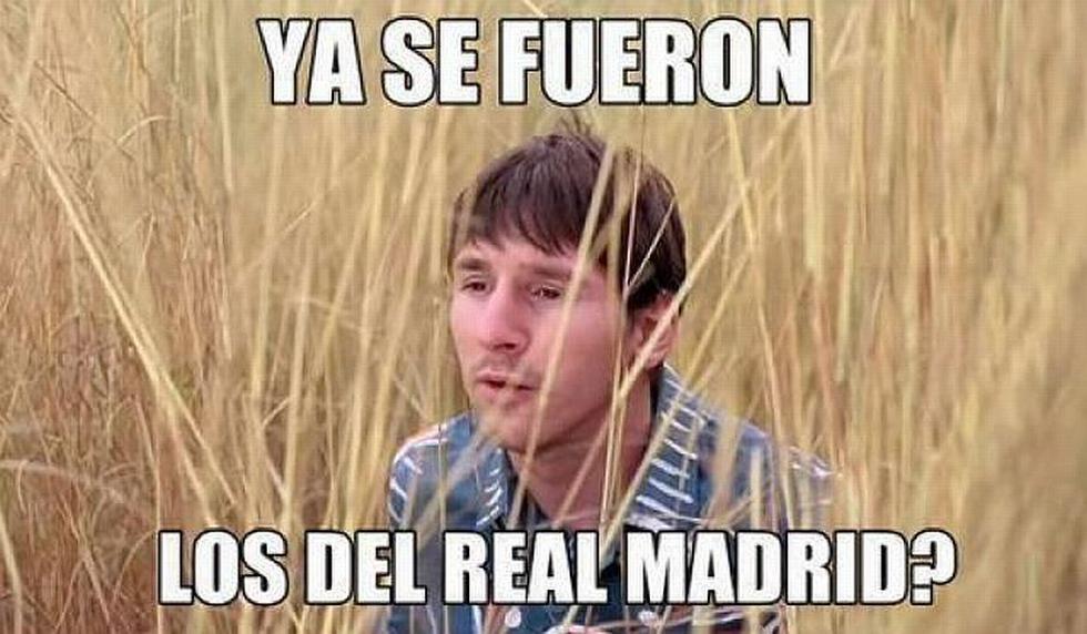 La victoria del Real Madrid sobre Barcelona en memes. (@angelamarcela)