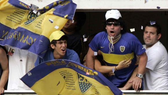 El homenaje de Boca Juniors a Diego Maradona en La Bombonera. (Foto: AFP)