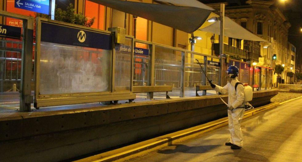 Las fumigaciones de las estaciones del Metropolitano se ejecutan de acuerdo con un cronograma. (Municipalidad de Lima)