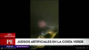 Costa Verde: Fuegos artificiales iluminaron el cielo por el Bicentenario