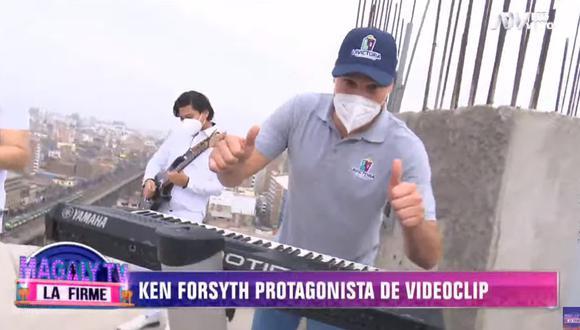 Alcalde Forsyth aparece por primera vez e videoclip. (Captura Magaly TV)