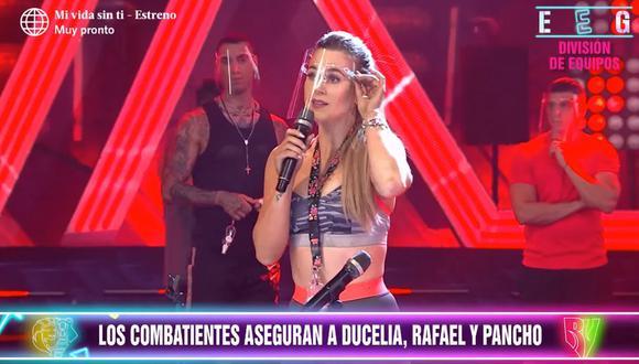 """""""Esto es Guerra"""": Ducelia Echevarría fue cambiada al equipo de los 'combatientes' a puertas de la semifinal. (Foto: Captura de viode)"""