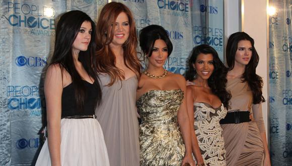 Kim Kardashian publica foto inédita junto a sus hermanas. (Foto: AFP)