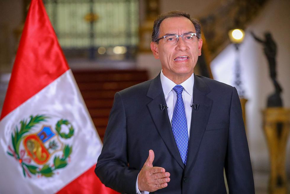 El presidente Martín Vizcarra anunció este domingo 16 de setiembre que se plantearía cuestión de confianza para que se apruebe los proyectos de reforma constitucional. (Foto: Difusión)