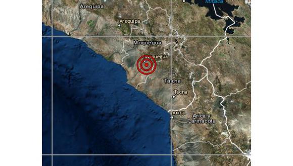 De acuerdo con el IGP, el epicentro de este movimiento telúrico se ubicó a 12 km al sur de Mariscal Nieto, en la región de Moquegua. (Foto: IGP)