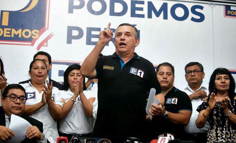 Daniel Urresti también aseguró que desde el Congreso la bancada de Podemos no blindará a José Luna Gálvez. (Foto: GEC)
