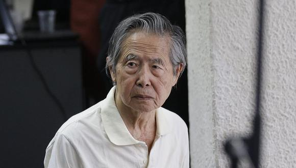 """""""Tengo casi 12 años preso y hoy me están llevando de nuevo a la cárcel. ¿No es eso suficiente?"""", cuestionó Alberto Fujimori.(Foto: GEC)"""
