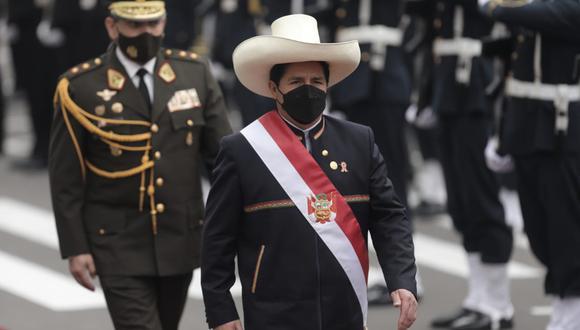 Pedro Castillo confirmó que presentará un proyecto de reforma constitucional para promover una Asamblea Constituyente al Congreso. (Foto: Congreso de la República)