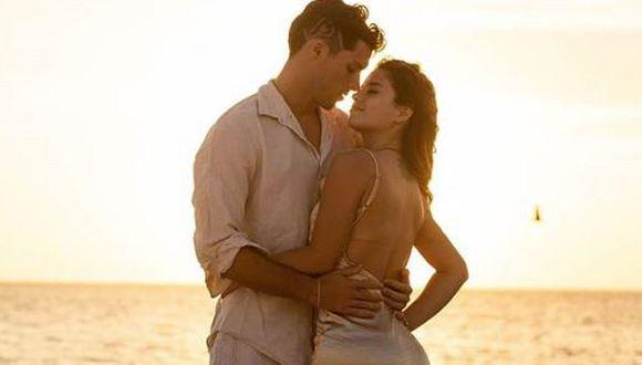 Patricio Parodi y Flavia Laos se lucen enamorados en Punta Cana. (Instagram)