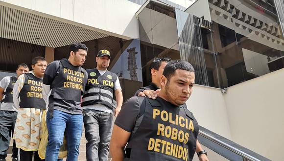 Ciberdelincuentes. Según la Policía Antirrobos, estos hampones operaban desde 2015. (PNP)