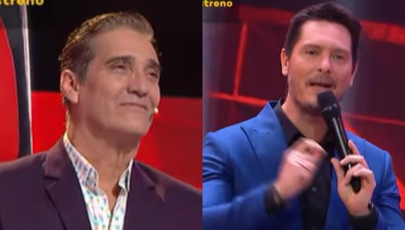 Cristian Rivero felicita a Guillermo Dávila por reconocer a su hijo peruano. (Foto: Captura Latina).