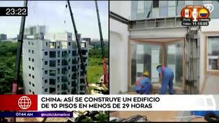 China: Construyen un edificio de 10 pisos en tan solo 29 horas