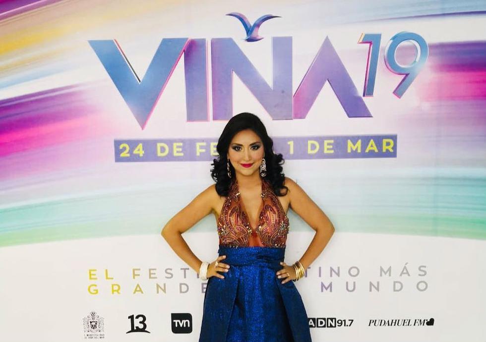La peruana fue ovacionada por el público de la Quinta Vergara. (Fotos: Instagram)