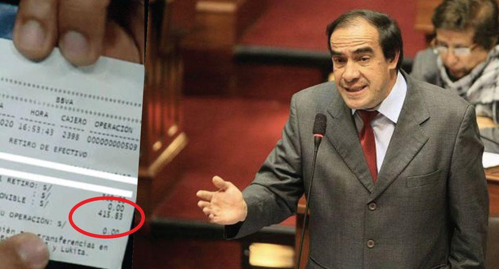 Yonhy Lescano asegura que solo le quedan S/415 de ahorro tras casi 20 años en el Congreso. (Composición)
