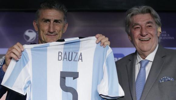 Edgardo Bauza fue presentado como nuevo DT de Argentina. (AP)