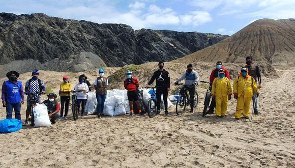 Piura: Ciclistas paiteños recogieron más de 400 kilos de basura en playa El Audaz (Foto: Municipalidad de Paita)