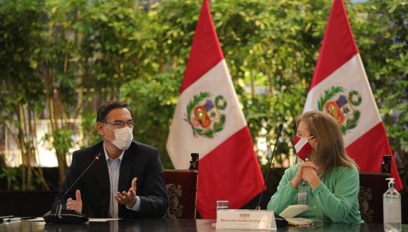 El presidente Martín Vizcarra sostuvo una reunión con representantes de la Confederación Nacional de Instituciones Empresariales Privadas (CONFIEP).