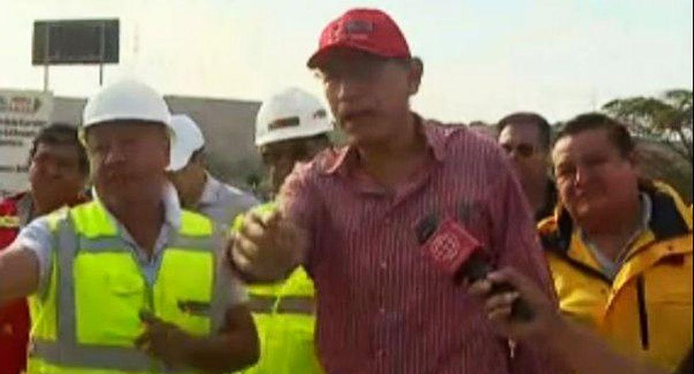 La caída del puente Montalvo es un problema serio, aseguró el presidente Martín Vizcarra. (Foto: Captura/América Noticias)