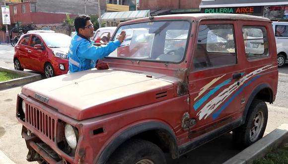 Los propietarios han sido notificados de manera preventiva y tienen como plazo hasta el 10 de febrero próximo para que retire sus vehículos. (Municipalidad de Magdalena)