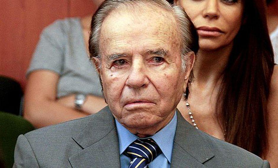 Exmandatario Carlos Menem no declaró. (AFP)