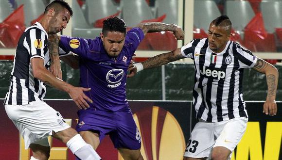 Juan Vargas es elogiado por el técnico de la Fiorentina. (AP)