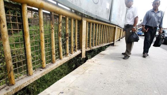 HAY QUE PREVENIR. Advierten que el puente Dueñas tiene graves daños en su estructura. (Rodrigo Málaga)