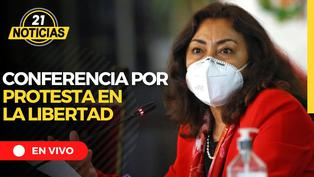 Conferencia de Prensa: Ministro del Interior se pronuncia sobre las 3 muertes en La Libertad