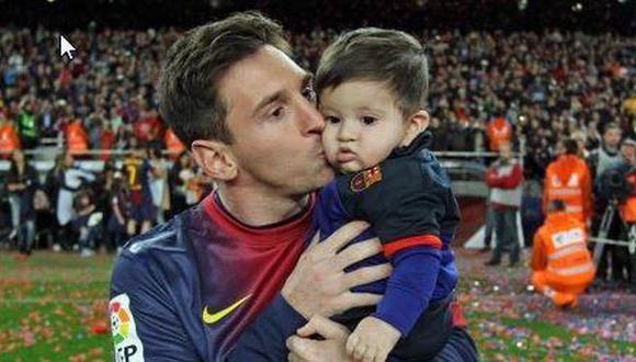 Messi aparece en el video junto a su hijo Thiago. (Difusión)