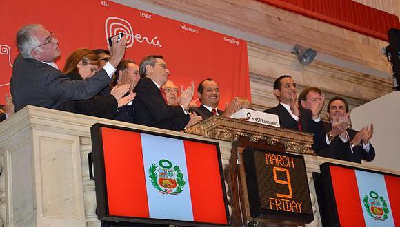 El Perú Day podría trasladarse a Europa y a Asia tras el campanazo de ayer en Wall Street. (Difusión)