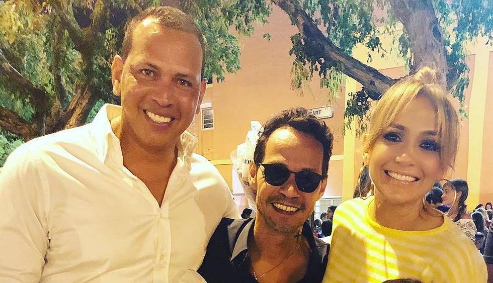 Jennifer Lopez, Marc Anthony y Álex Rodríguez vuelven a reunirse para alentar a Emme. (Foto: @arod)