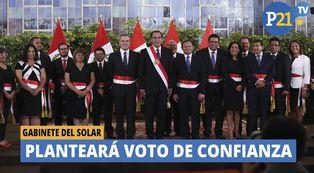 Gabinete Del Solar planteará voto de confianza