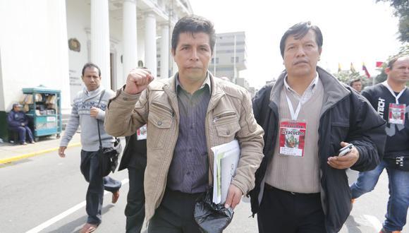 Pedro Castillo, dirigente de protestas de docentes en los últimos años, es el candidato presidencial de Perú Libre. (Foto: Alonso Chero / GEC)