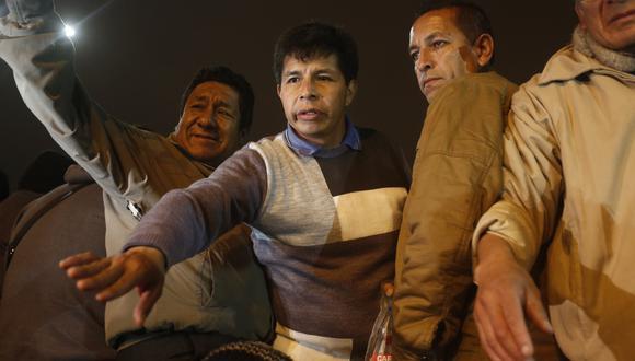 """Pedro Castillo asegura que le gritaron: """"retírate"""". (César Campos)"""