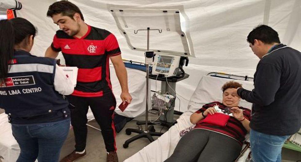 El Ministerio de Salud desplegó personal médico para atender a hinchas que asistieron a la final de la Copa Libertadores 2019. (Minsa)