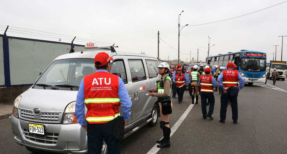 El operativo de la ATU contó con el apoyo de la Policía Nacional. (ATU)