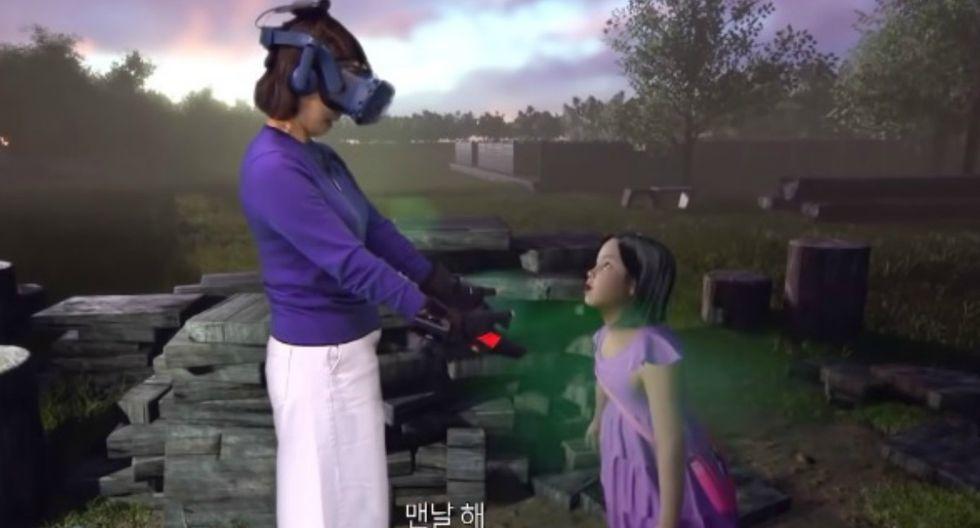 La niña no solo fue replicada completamente en 3D, sino que también fue capaz de moverse e interactuar con su madre. (Foto: Captura)