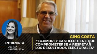 """Gino Costa: """"Fujimori y Castillo tiene que comprometerse a respetar los resultados electorales"""""""