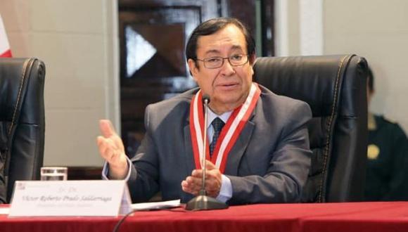 """El extitular del Poder Judicial Víctor Prado Saldarriaga señaló que la institución tendrá que afrontar """"la coyuntura que se presenta"""". (Foto: Poder Judicial)"""