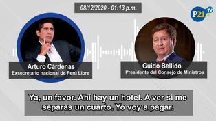 'Pinturita' Cárdenas pidió a premier Bellido que alquile habitaciones para hermano de Cerrón