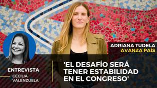 Adriana Tudela candidata al Congreso por Avanza País