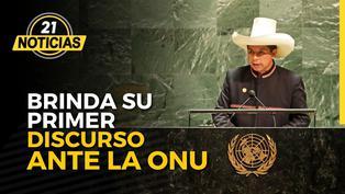 Presidente Castillo brinda su primer discurso en la ONU