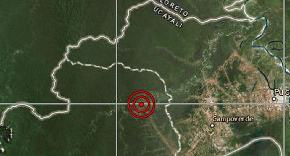 Sismo de magnitud 4.6 se registró en la ciudad de Curimaná (Foto: IGP)