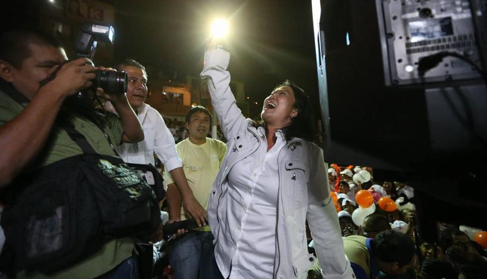 Keiko Fujimori reinició campaña electoral con miras a la segunda vuelta. (Luis Centurión/Perú21)
