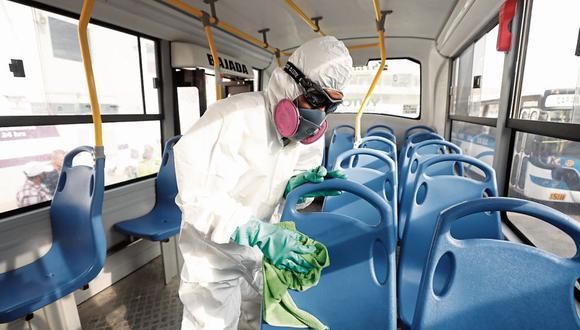Arequipa: Vehículos del Sistema Integrado de Transportes (SIT) realizan adecuación de sus unidades para iniciar operaciones y evitar contagios de coronavirus (Foto referencial)